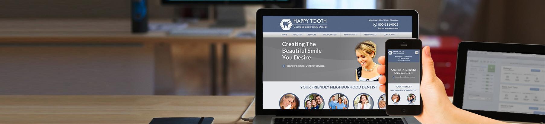 Websites for Dentists and Doctors, Best Website Templates for Dentists - neighborhood website templates