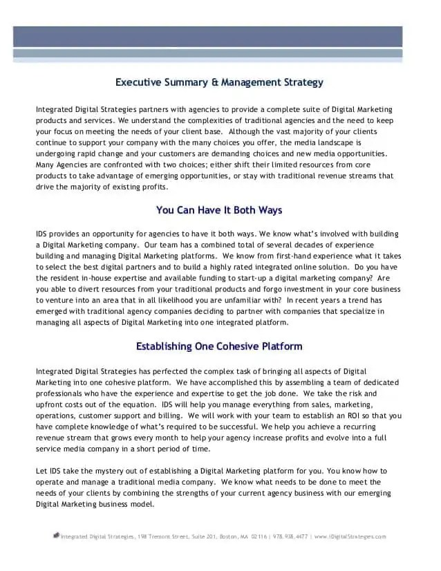 Top Result 60 Lovely Real Estate Executive Summary Template Gallery - business executive summary template