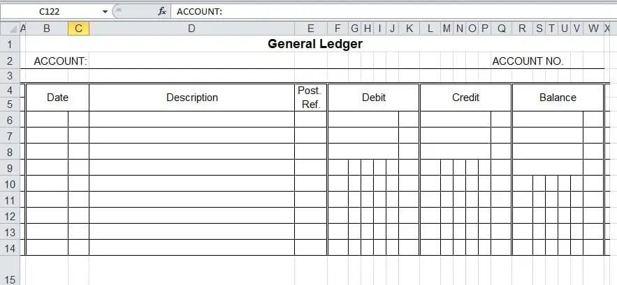 ledger sheet template excel - Leonescapers