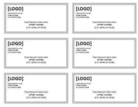 mailing address label templates
