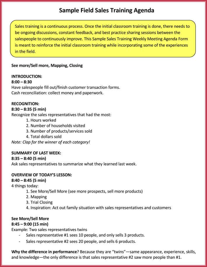 Training Agenda Sample Agenda Examples Templates Images Of Agenda - Sample Training Agenda