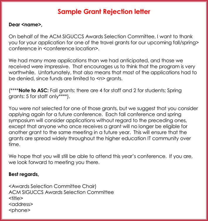 Rejection Letters - 20+ Free Samples \ Formats for HR - rejection letter sample