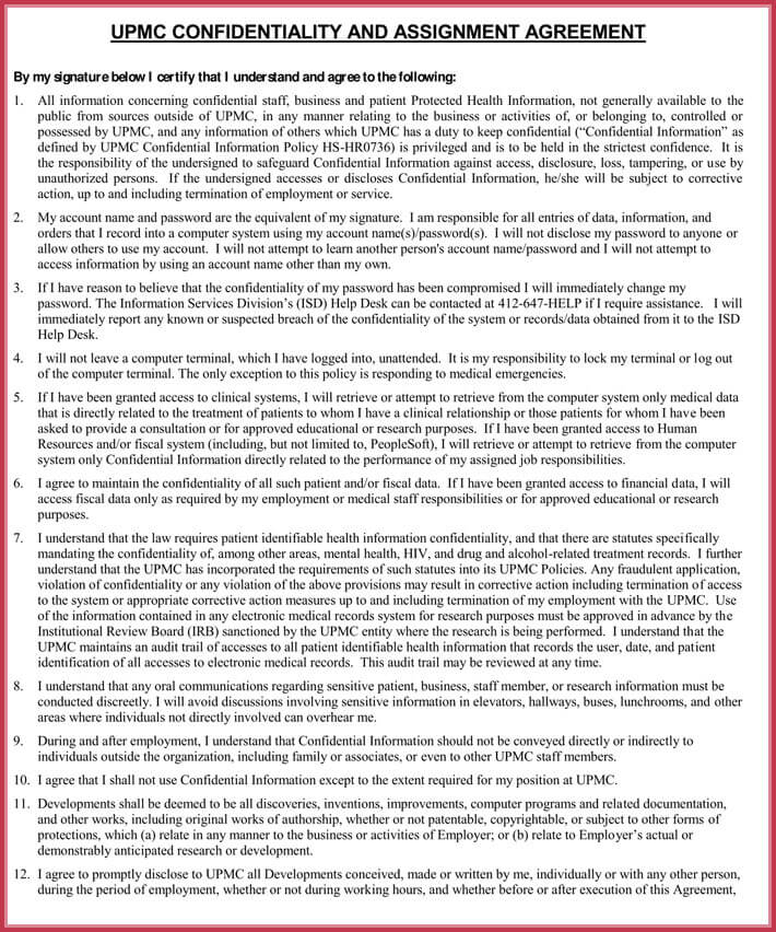 Sample Contractor Confidentiality Agreement - Download in Word, PDF - data confidentiality agreement