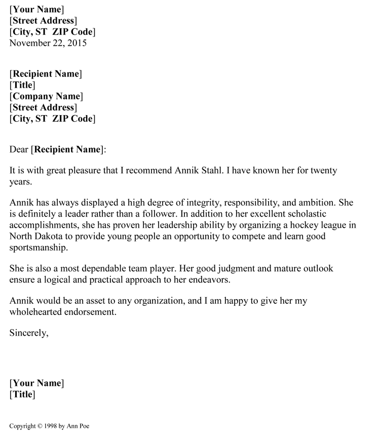 Nursing Resignation Letter Sample Format Example 5 Samples Of Reference Letter Format To Write Effective