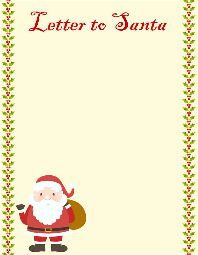 20+ Free Letter to Santa Templates for Kids to Write Wishes - santa template letter