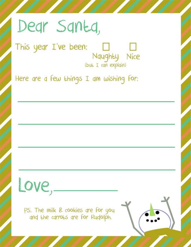 letter template for kids