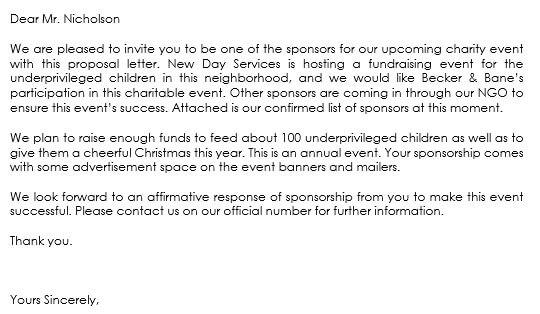 Sponsorship Letter Samples - Write Best Sponsorship Letters - event sponsorship letter sample