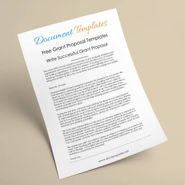 6 Free Grant Proposal Templates for Word and PDF