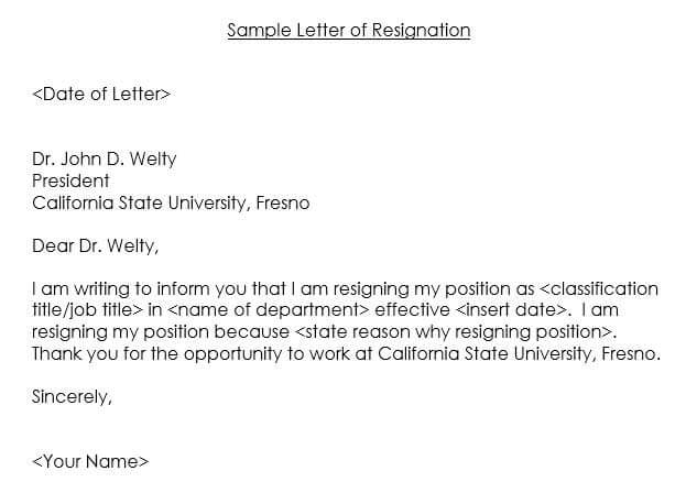 15+ Resignation Letter Templates - Professional Samples  Examples - sample letter templates