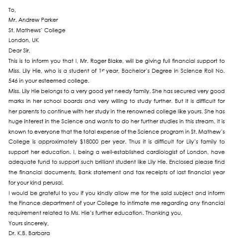 10 Letter of Support Samples to Support Projects or Individuals - sample letter of support