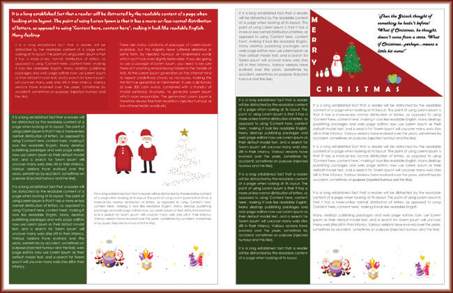 9+ Christmas Newsletter Templates to Create Printable and E-Newsletters - free christmas letter templates