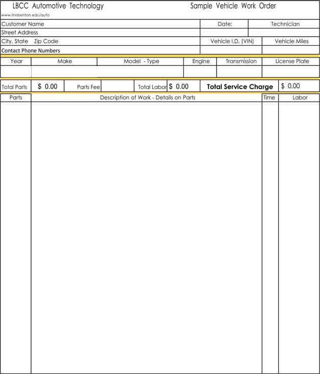Auto Repair Invoice Templates - 10+ Printable and Fillable Formats - invoice templates