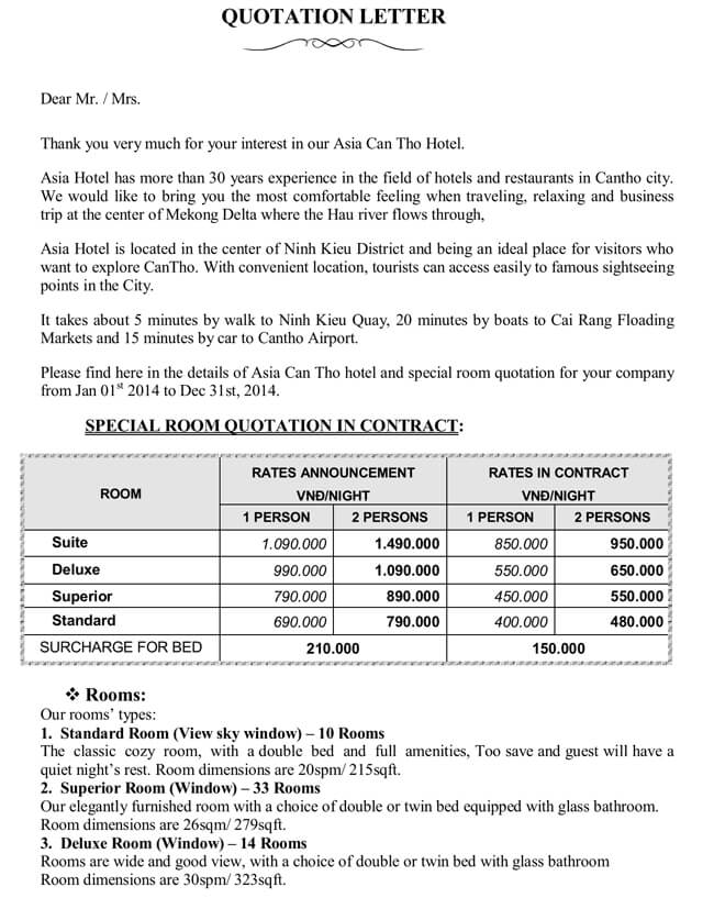 28+ Free Quotation Templates of Every Type (Excel, Word  PDF) - travel quotation sample