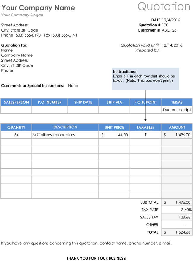 28+ Free Quotation Templates of Every Type (Excel, Word  PDF)