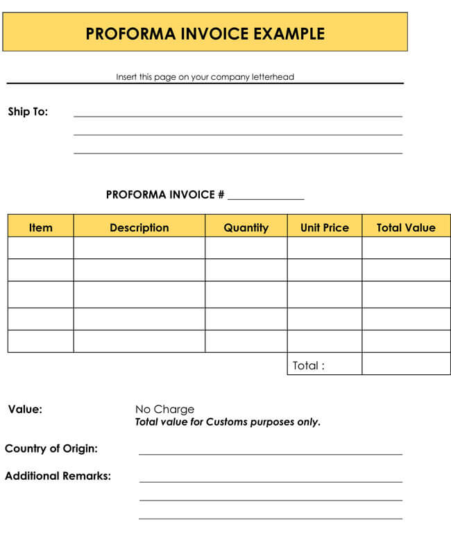 8+ Proforma Invoice Templates and Samples for Word, Excel and PDF