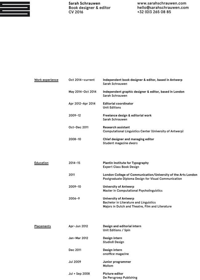quick resume examples