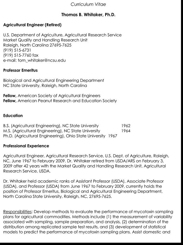 resume cv format word