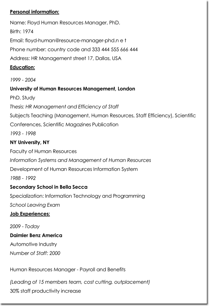 resume examples for social services