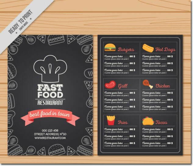 American Style Restaurant Menu Templates - Best Designs That Attracts