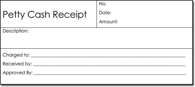 Petty Cash Receipt Templates - 6 Formats for Word - payment receipt template pdf