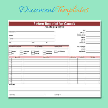 Receipt Templates - Print Free Blank Receipts of Any Type