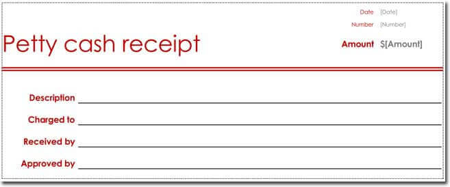 Petty Cash Receipt Templates - 6 Formats for Word - Cash Recepit