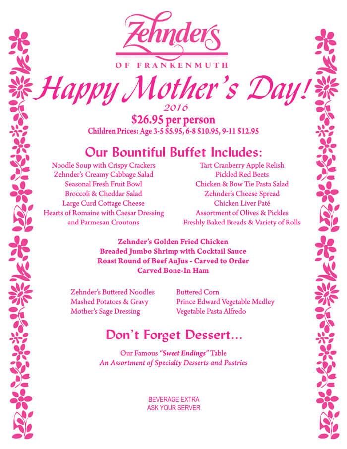 Special Mother\u0027s Day Menu Templates - Free Printables