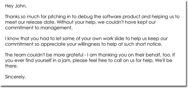 Employee Thank You Letter Templates - 10+ Samples  Formats