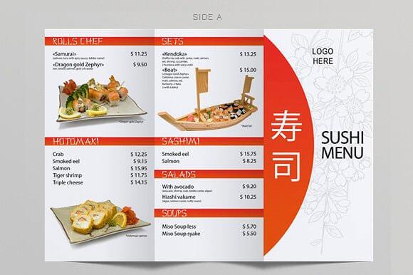 20+ Japanese Restaurant Menu Templates - Download in PSD, EPS - a la carte menu template