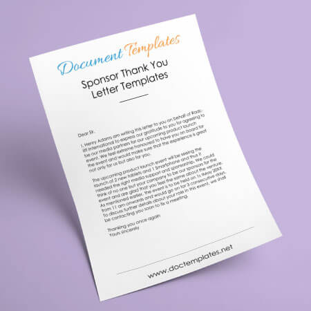 15+ Sponsor Thank You Letter Templates, Samples and Examples