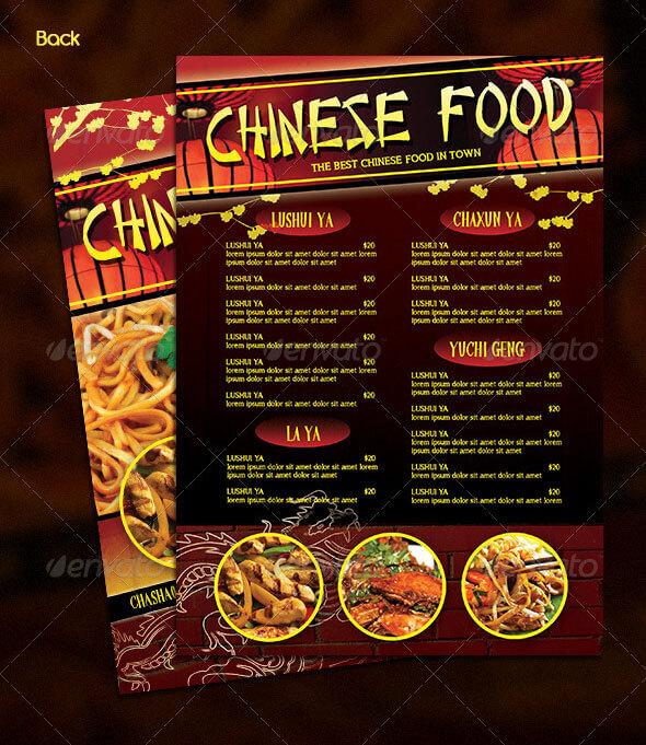12+ Best Chinese Food Restaurant Menu Templates