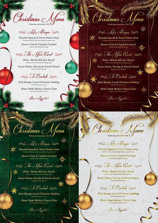 free christmas menu templates - Romeolandinez