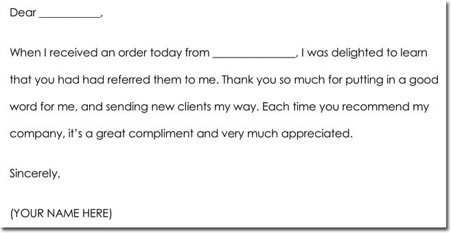 thank you letter from business to customer - Romeolandinez