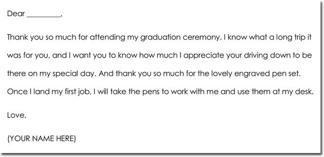 8+ Graduation Thank You Note Templates  Wording Ideas
