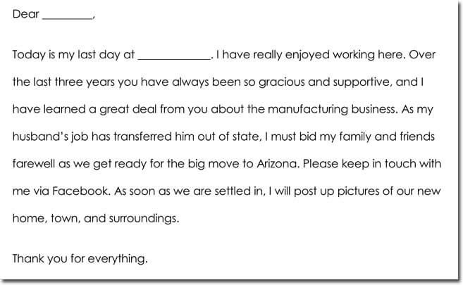 Employee Farewell Thank You Note Samples  Wording Ideas - thank you notes sample