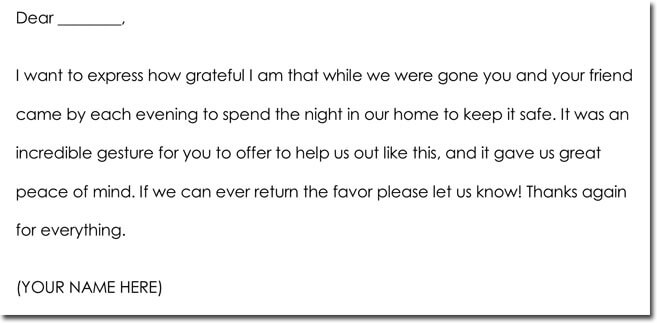 5+ House Sitting Thank You Note Samples  Wording Ideas