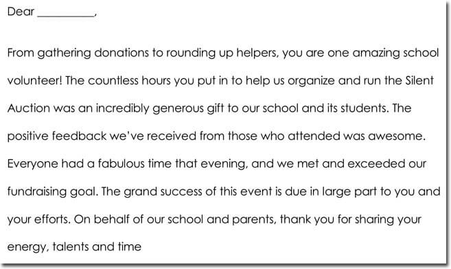 7+ Volunteer Thank You Note Templates  Wording Ideas - Thank You Note