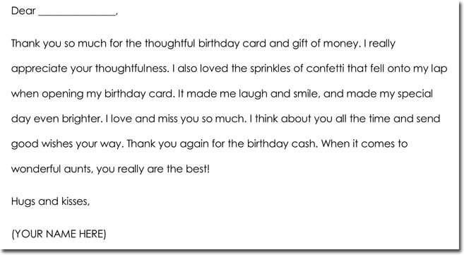11+ Money/Cash Gift Thank You Note Templates  Wording Ideas