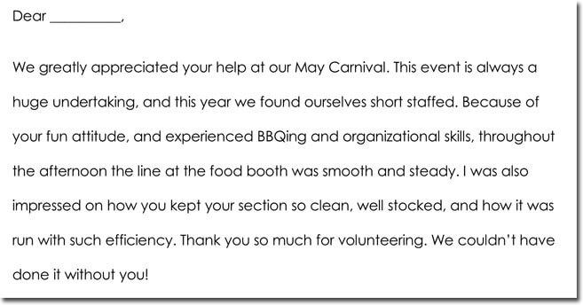 Exelent Volunteer Thank You Letter Ornament - Resume Ideas - bayaarinfo - volunteer thank you letter