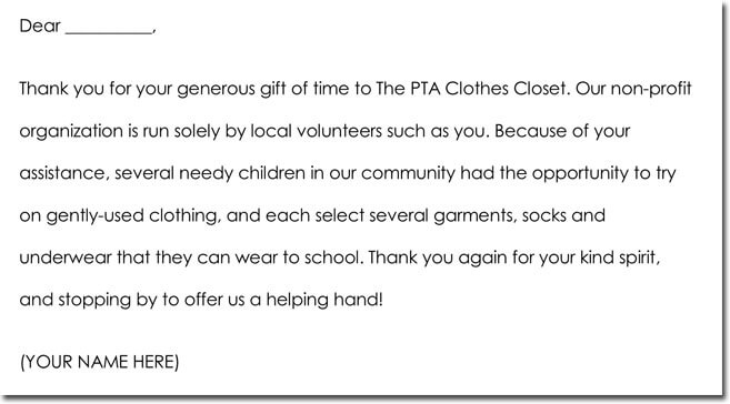 7+ Volunteer Thank You Note Templates  Wording Ideas