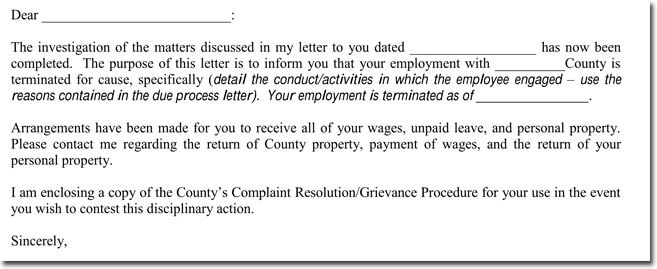 termination letter sample to employee - Alannoscrapleftbehind