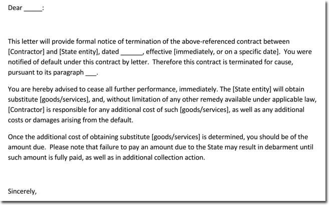 Sample Service Termination Letter - Write any Service Termination Notice - contract termination letter sample