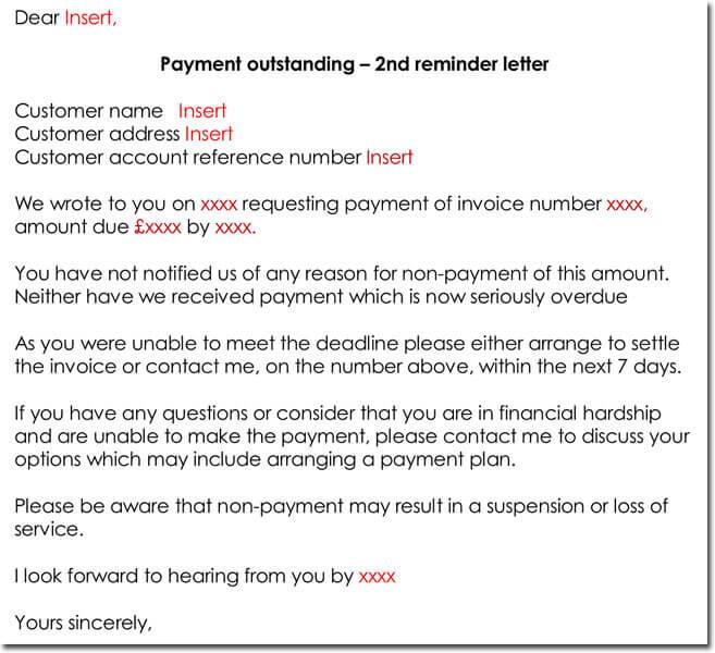 Payment Reminder Letter Templates - 8+ Samples  Formats - sample letter of request for payment arrangement