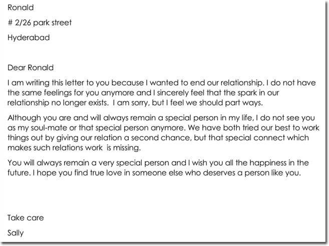 How To Write A Breakup Letter Boyfriend - Newletterjdi