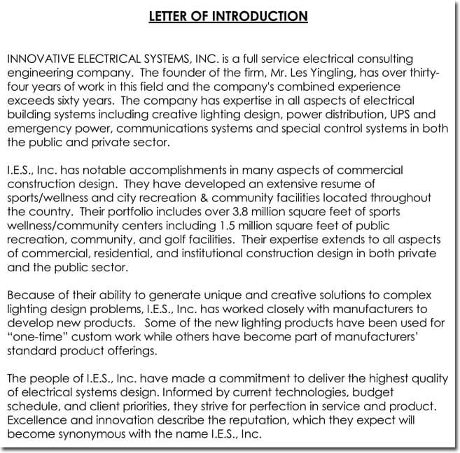Letter of Introduction Writing Tips (with 24+ Free Samples  Examples) - introduction letter for new product