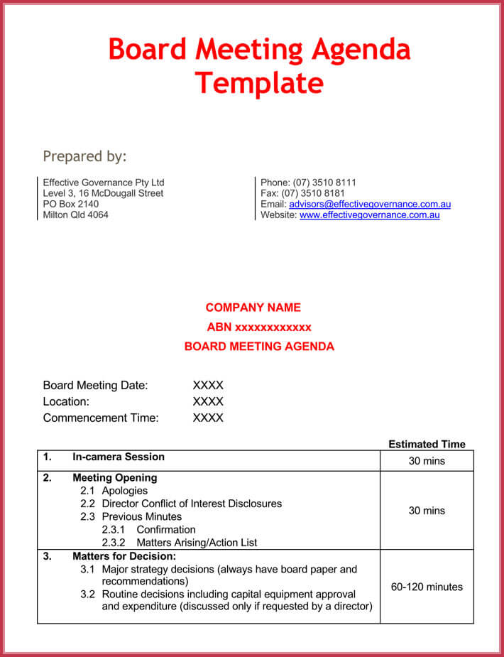 Effective Meeting Agenda Templates - 9+ Best Samples in Word Format - 1 on 1 meeting template