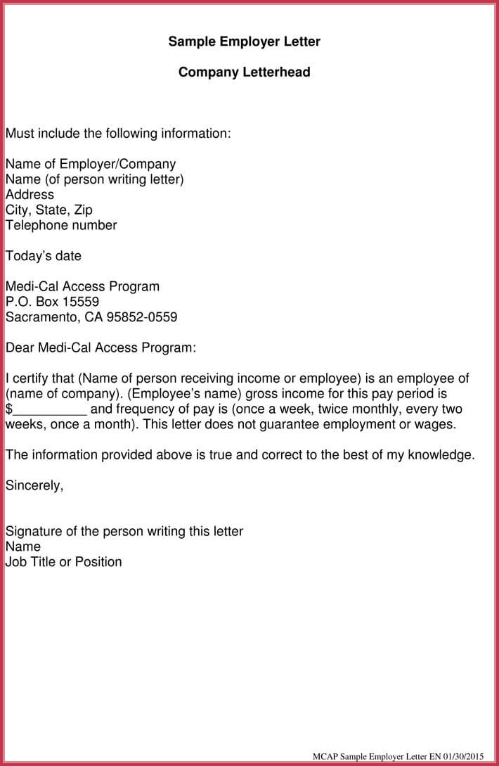 Proof of Income Letter - 20+ Samples, Formats in PDF  Word