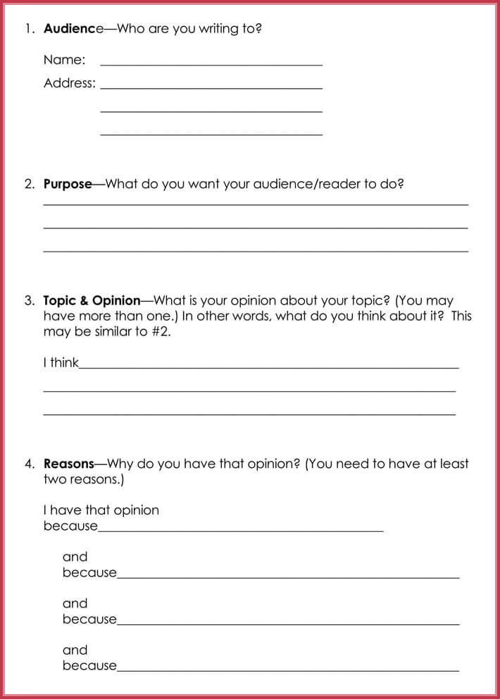 Persuasive Letter Template - Samples  Formats for Word PDF - letter writing template