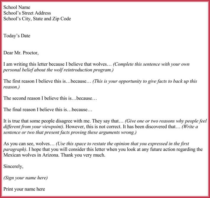 Persuasive Letter Template - Samples  Formats for Word PDF