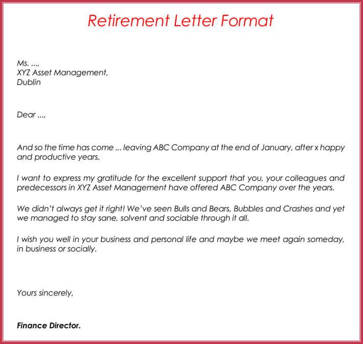 Retirement letter Samples, Examples, Formats  Writing Guide - letter of retirement